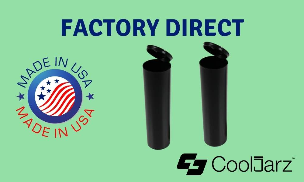 black 114mm extra wide pre-roll tubes factory direct made in usa