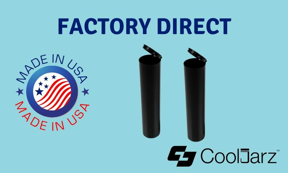black 114mm wide pre-roll tubes factory direct made in usa