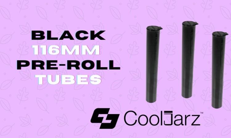 plastic Black 116mm pre-roll Tubes doob tubes j-tubes