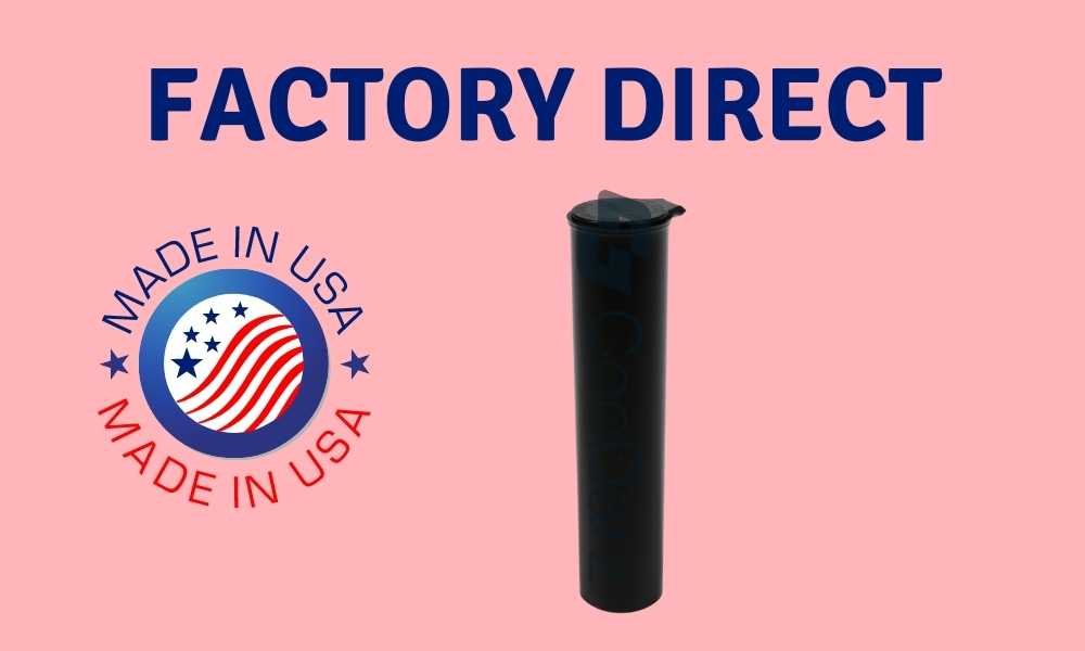 black 78mm pre-roll tubes made in usa factory direct