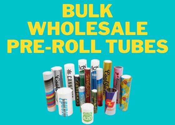 bulk wholesale plastic pre-roll tubes and containers