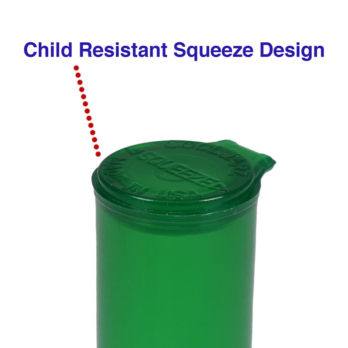 child resistant pop top 116mm pre-roll tube container for blunts joints