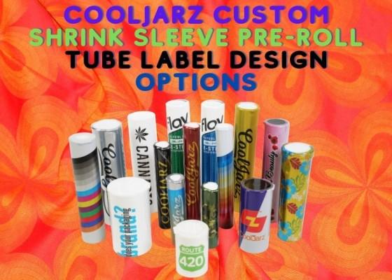 CoolJarz Custom Shrink Sleeve Pre-Roll Tube Label Design Options