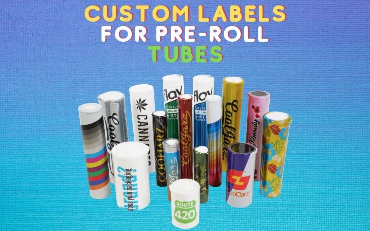 Custom Labels for Pre-Roll Tubes doob tubes and j tubes