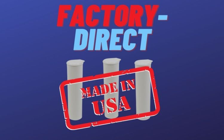 factory direct 68mm vape cartridge tube made in usa