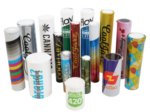 group-of custom-shrink-sleeve-label-tubes-for-pre-rolls-doob-tubes-blunts-1