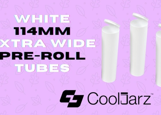 plastic white 114mm extra wide pre-roll tubes doob tubes