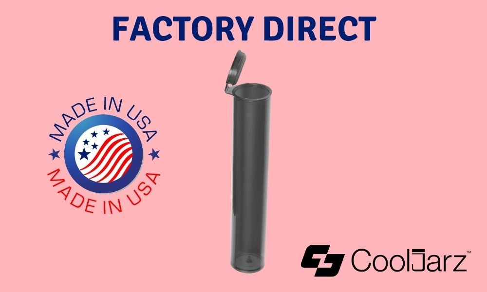 translucent black 98mm pre-roll tubes with joint factory direct