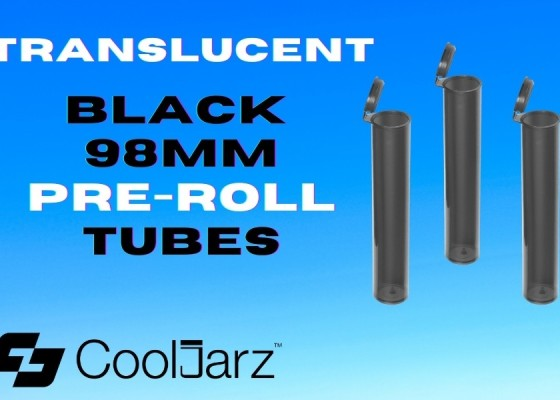 translucent black 98mm pre-roll tubes