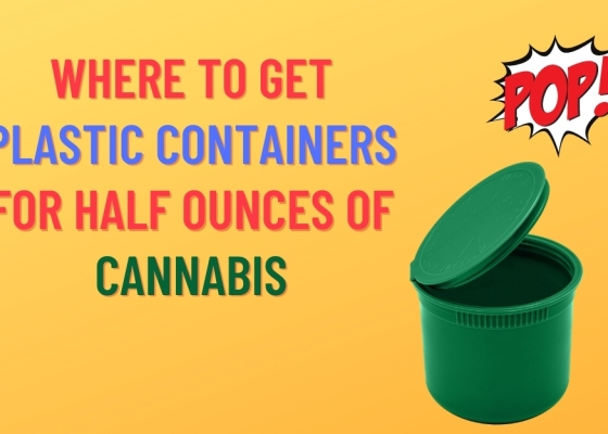 Where to Get Plastic Containers for Half Ounces of Cannabis. 60 dram bottle