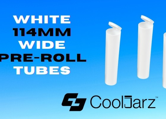 plastic white 114mm wide pre-roll tubes