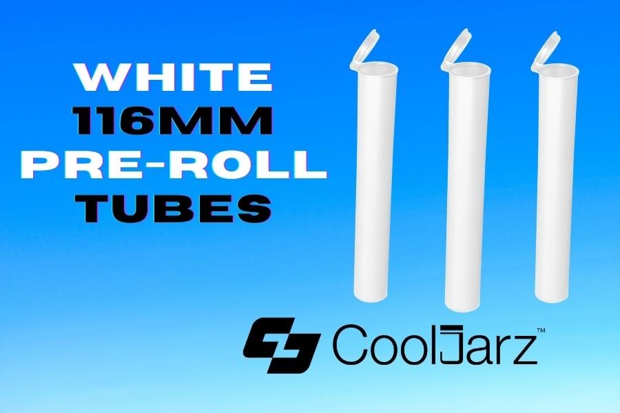 White 116mm pre-roll Tubes