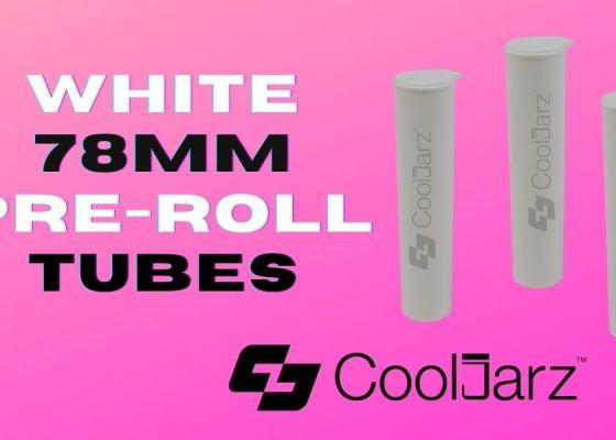 white 78mm pre-roll tubes for cannabis