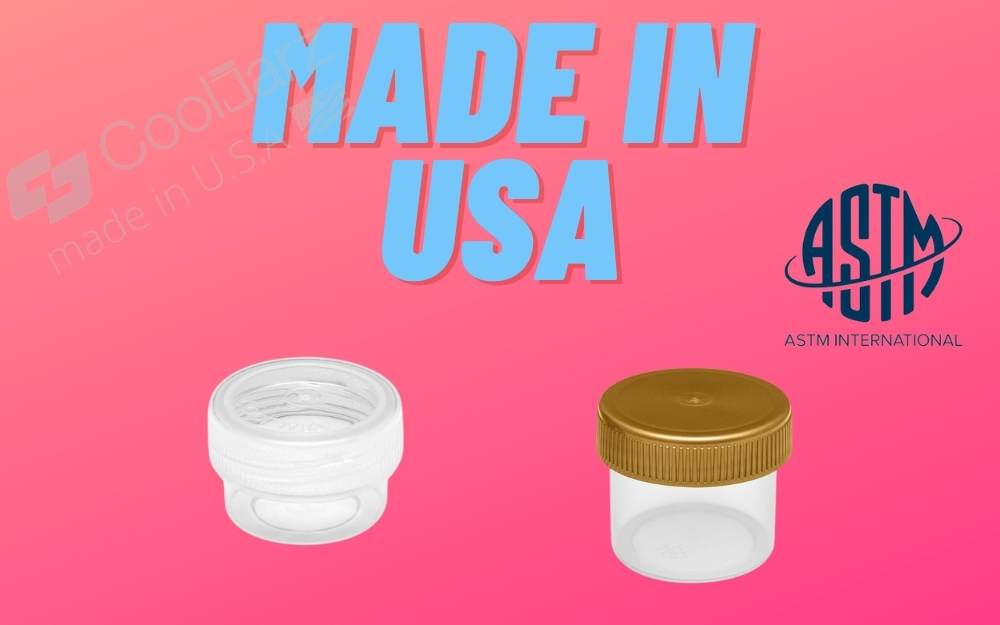 Wholesale Dab Concentrate Containers made in usa astm