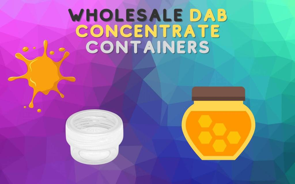 Wholesale Dab Concentrate Containers wax honey glycerine